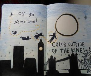 wreck this journal, peter pan, and neverland image