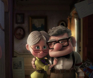 pixar, love, and up image