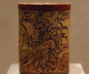 ancient, mayan, and vessel image
