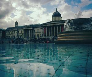 fountain, london, and Trafalgar Square image