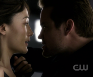 maggie q, love, and michael image
