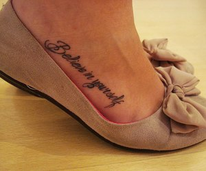 tattoo, shoes, and believe image