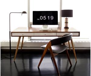 office, desk, and interior design image