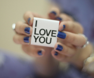 love, blue, and I Love You image