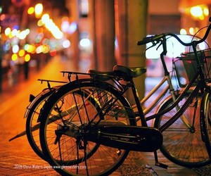 bicycle, night, and nikon D700 image