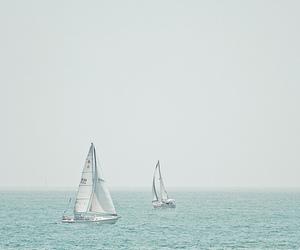 sea, blue, and vintage image