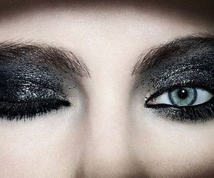 eyes, gothic, and makeup image