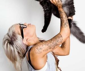 animal, girl, and glases image
