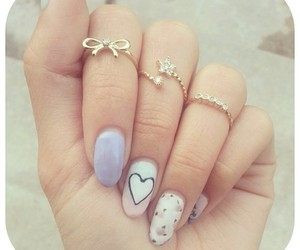 nails, heart, and rings image