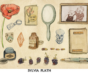 illustration, sylvia plath, and art image