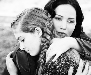black and white, catching fire, and everdeen image