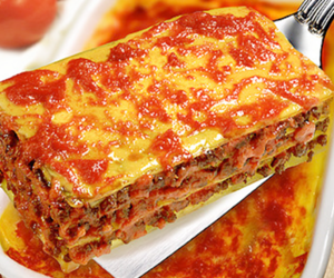 cheese, food, and lasagne image