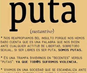 puta, igualdad de género, and feminismo image