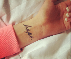 hope, tattoo, and nails image