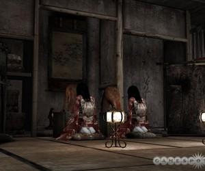 creepy, fatal frame, and kimono image