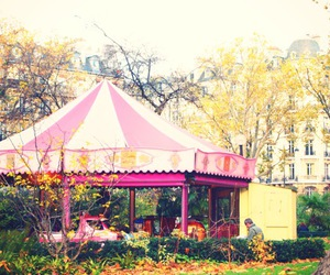 pink, beautiful, and carousel image