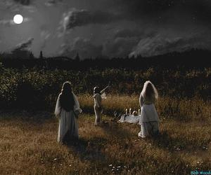 witch, wicca, and moon image