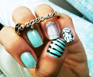 nails, gorgeous, and ring image