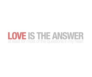 love, quotes, and answer image