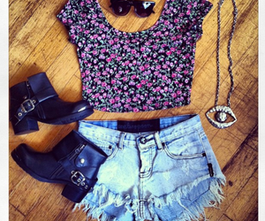 fashion, shorts, and boots image