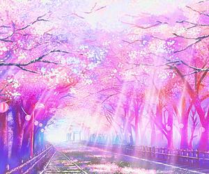anime, pink, and sakura image