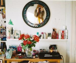 mirror, room, and vintage image
