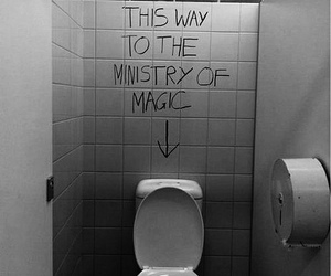 harry potter, magic, and toilet image