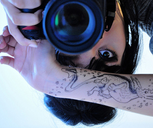 camera, tattoo, and girl image