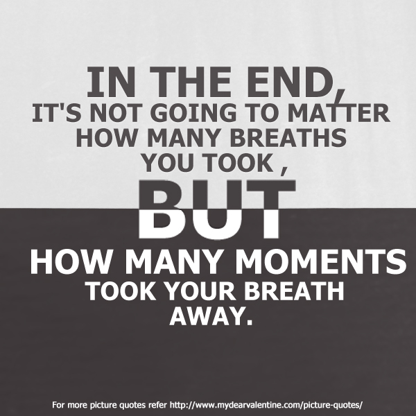 In The End It S Not Going To Matter Quotes With Pictures