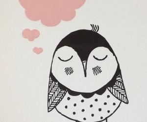 owl, <3, and art image