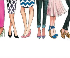 illustration, draw, and shoes image