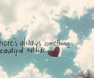 beautiful, quote, and sky image