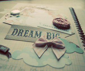Dream, bow, and quote image