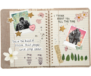 butterfly, couple, and diary image