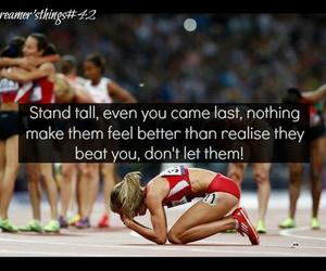 athlete, don't give up, and dreamer image