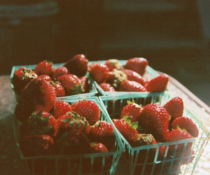 strawberry, vintage, and food image