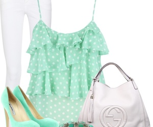 heels, outfit, and shoes image