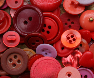 buttons, collection, and red image