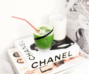 chanel, drink, and book image