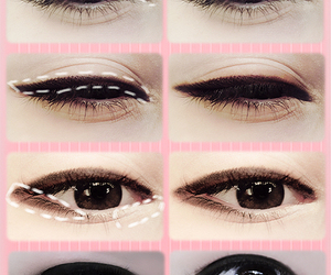 ulzzang, makeup, and eyes image