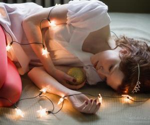 fairy, girl, and fairy lights image