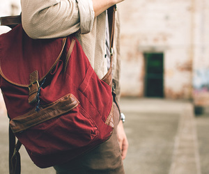 bag, red, and vintage image