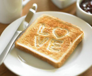 love, food, and toast image
