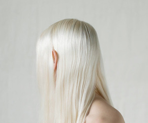blonde, pale, and hair image