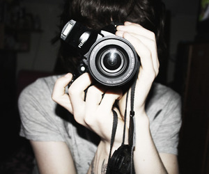 boy, camera, and photography image