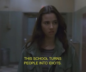 school, idiot, and quotes image
