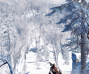 connor kenway, snow, and winter image