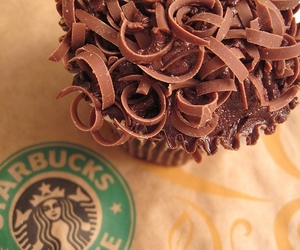 starbucks, chocolate, and cupcake image