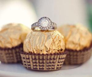 chocolate, ring, and diamond image