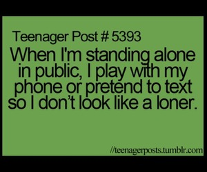 true, phone, and teenager post image